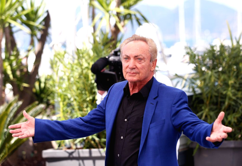 """CANNES, May 16, 2019 - German actor Udo Kier poses during a photocall for the film """"Bacurau"""" at the 72nd Cannes Film Festival in Cannes, France, May 16, 2019. """"Bacurau"""" will ... - Udo Kier"""
