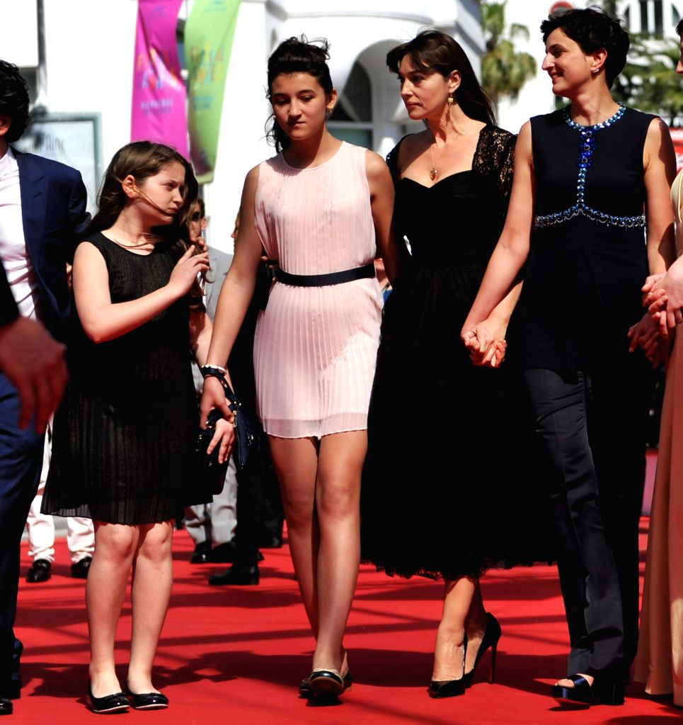 Italian actress Agnese Graziani, Italian actress Maria Alexandra Lungu, Italian actress Monica Bellucci and Italian director Alice Rohrwacher (from L to R) pose as ... - Agnese Graziani