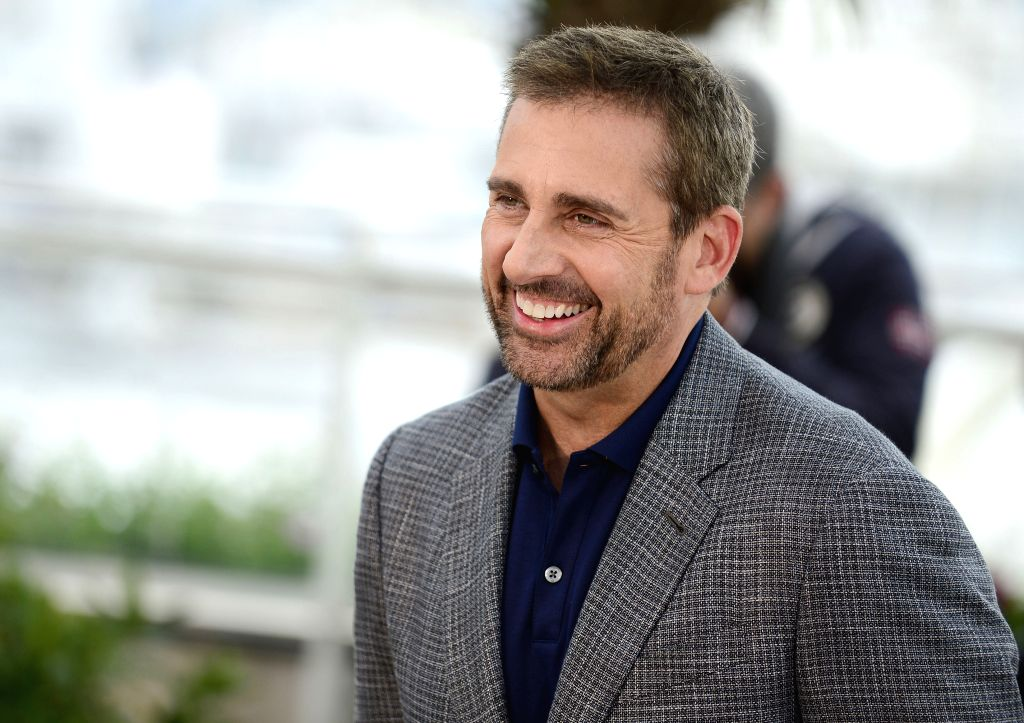 CANNES, May 19, 2014 (Xinhua) -- U.S. actor Steve Carell poses during the photocall for 'Foxcatcher' at the 67th Cannes Film Festival in Cannes, France, May 19, 2014. The movie is presented in the Official Competition of the festival which runs from  - Steve Carell