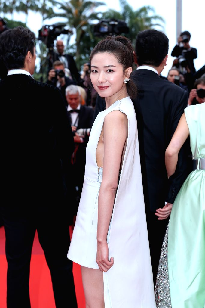 "CANNES, May 19, 2019 - Actress Wan Qian poses on the red carpet for the premiere of the Chinese film ""Wild Goose Lake"" at the 72nd Cannes Film Festival in Cannes, France, on May 18, 2019. ... - Wan Qian"