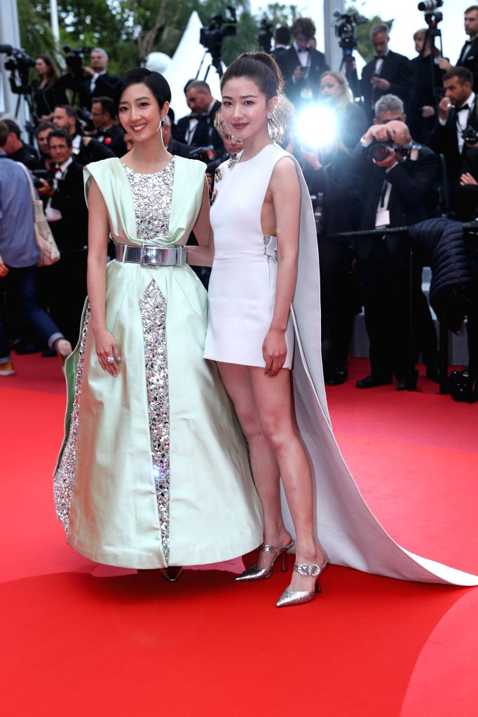 "CANNES, May 19, 2019 - Actresses Wan Qian (R) and Kwai Lun Mei pose on the red carpet for the premiere of the Chinese film ""Wild Goose Lake"" at the 72nd Cannes Film Festival in Cannes, ... - Wan Qian"