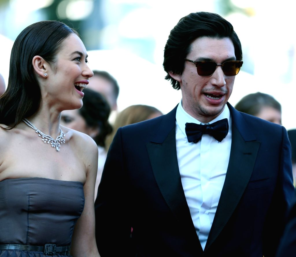 "CANNES, May 20, 2018 - Cast memebers Olga Kurylenko (L) and Adam Driver take part in the screening of ""The Man Who Killed Don Quixote"" and the Closing Ceremony during the 71st annual Cannes ..."