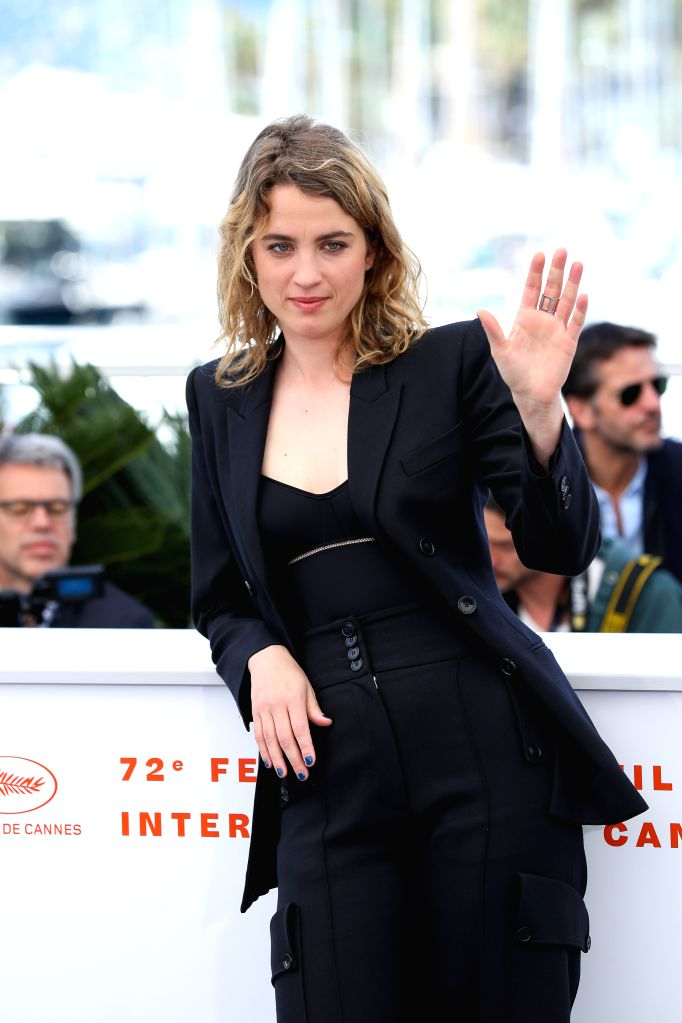 "CANNES, May 20, 2019 - Actress Adele Haenel poses during a photocall for the film ""Portrait de la jeune fille en feu"" at the 72nd Cannes Film Festival in Cannes, France, May 20, 2019. ... - Adele Haenel"