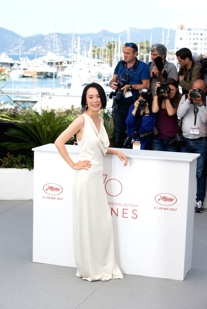 """CANNES, May 23, 2017 - Actress Misuzu Kanno poses for a photocall of the film """"Hikari (Radiance) """" during the 70th Cannes Film Festival at Palais des Festivals in Cannes, France, on May 23, ... - Misuzu Kanno"""