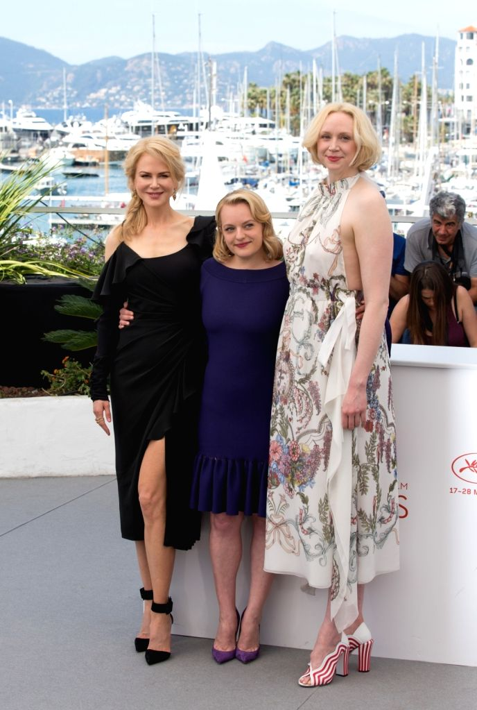 """CANNES, May 23, 2017 - Actresses Nicole Kidman, Elisabeth Moss and Gwendoline Christie (From L to R) pose for a photocall of """"Top Of The Lake: China Girl"""" during the 70th Cannes Film ... - Nicole Kidman, Elisabeth Moss and Gwendoline Christie"""