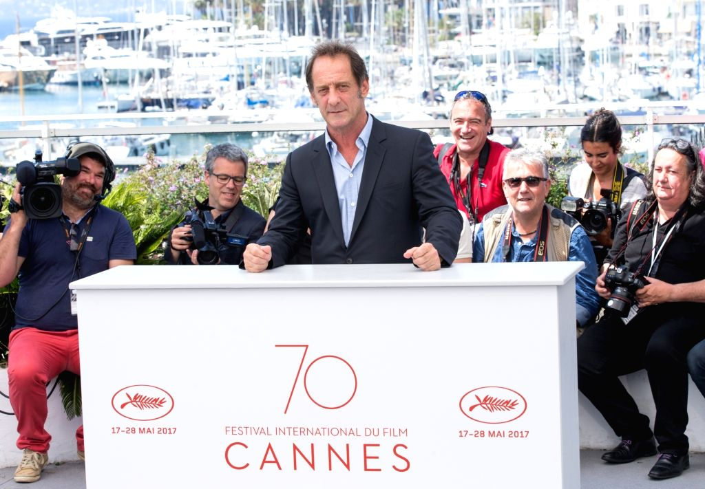 """CANNES, May 24, 2017 - Actor Vincent Lindon poses for the photocall of the film """"Rodin"""" during the 70th annual Cannes Film Festival at Palais des Festivals in Cannes, France, on May 24, ... - Vincent Lindon"""