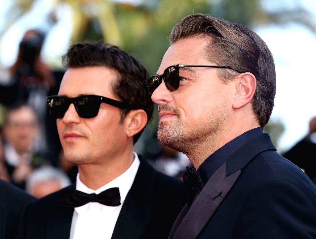 "CANNES, May 24, 2019 - Actors Leonardo Dicaprio (R) and Orlando Bloom attend the premiere of Marco Bellocchio-directed film ""The Traitor"" during the 72nd Cannes Film Festival in Cannes, ... - Leonardo Dicaprio"