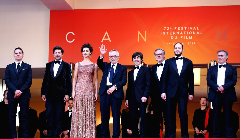 "CANNES, May 24, 2019 - Italian director Marco Bellocchio (4th L) and cast members attend the premiere of Marco Bellocchio-directed film ""The Traitor"" during the 72nd Cannes Film Festival in ... - Marco Bellocchio"