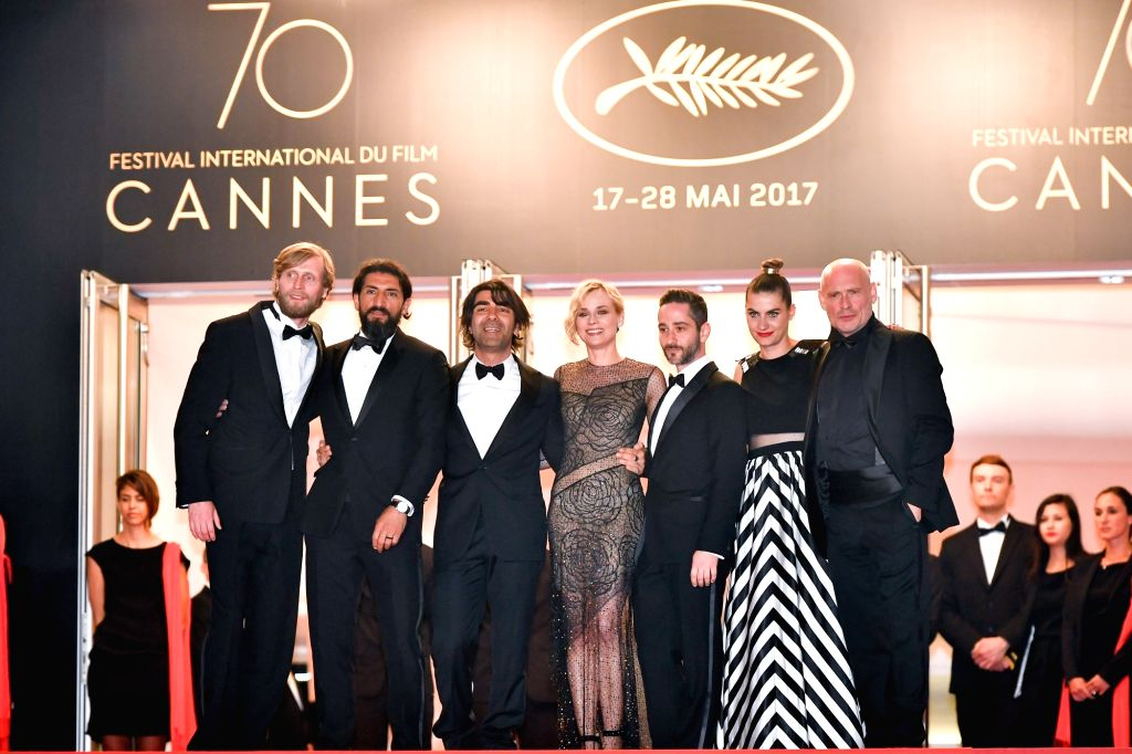 CANNES, May 26, 2017 - (From L to R) German actor Ulrich Brandhoff, German actor Numan Acar, German director Fatih Akin, German actress Diane Kruger, German actor Denis Moschitto, German actress ... - Ulrich Brandhoff