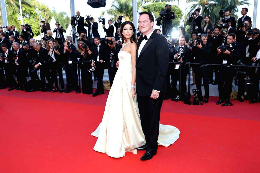 CANNES, May 26, 2019 - Director Quentin Tarantino (R) poses on the red carpet of the closing ceremony of the 72nd Cannes Film Festival, in Cannes, France, on May 25, 2019. The curtain of the 72nd ...