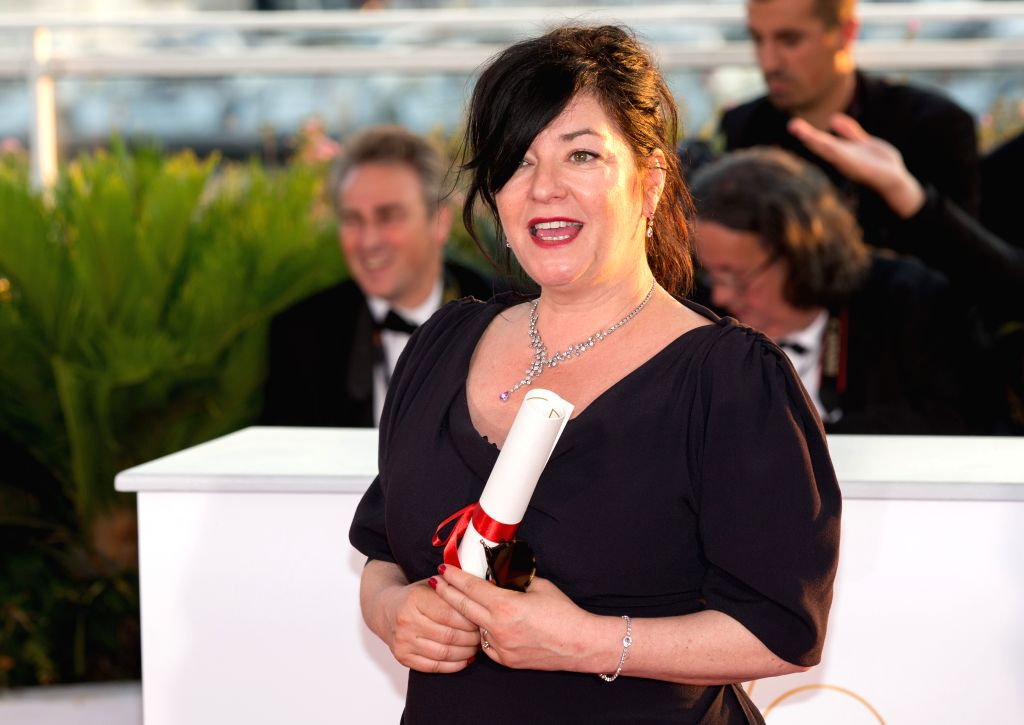 """CANNES, May 29, 2017 - Director Lynne Ramsey of the film """"You Were Never Really Here"""", which won the Best Screenplay Award, poses during a photocall at the 70th Cannes Film Festival in ..."""