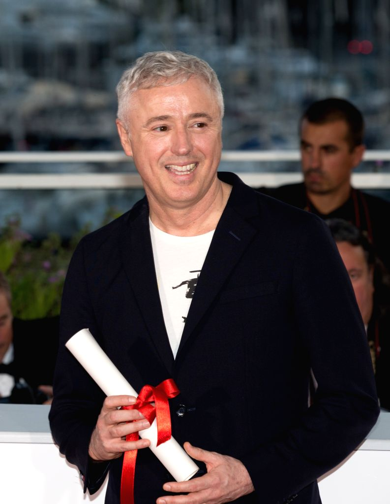 """CANNES, May 29, 2017 - Director Robin Campillo for the film """"120 Beats Per Minute"""", which won the Grand Prize Award, poses during a photocall at the 70th Cannes Film Festival in Cannes, ..."""