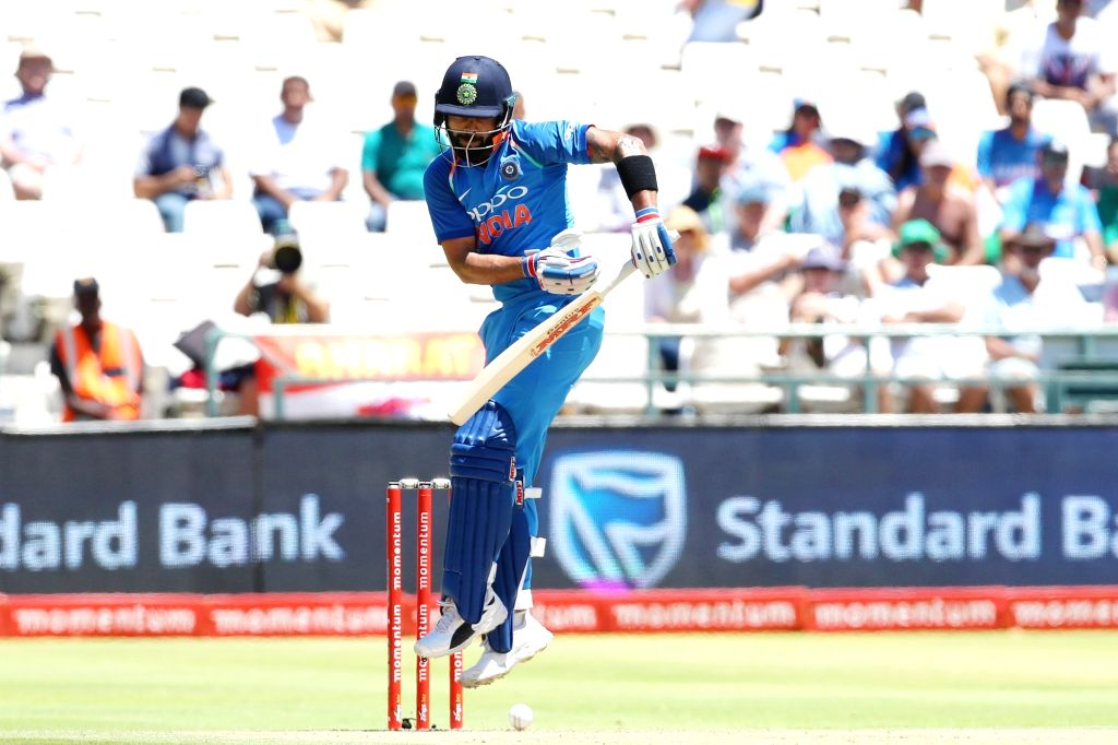 Cape Town: Indian skipper Virat Kohli in action during the 3rd ODI match between India and South Africa at the Newlands Cricket Ground in Cape Town, South Africa on Feb 7, 2018. - Virat Kohli