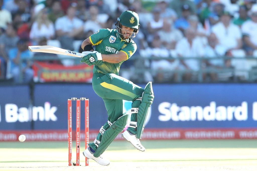 Cape Town: JP Duminy of South Africa in action during the 3rd ODI match between India and South Africa at the Newlands Cricket Ground in Cape Town, South Africa on Feb 7, 2018.