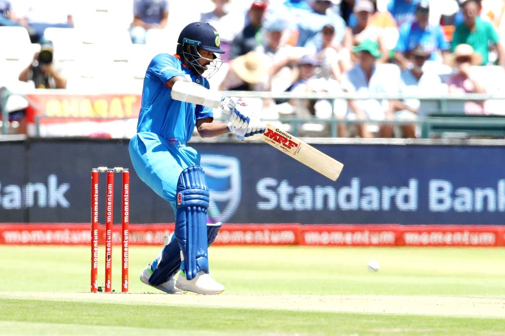 Cape Town: Shikhar Dhawan of India in action during the 3rd ODI match between India and South Africa at the Newlands Cricket Ground in Cape Town, South Africa on Feb 7, 2018. - Shikhar Dhawan
