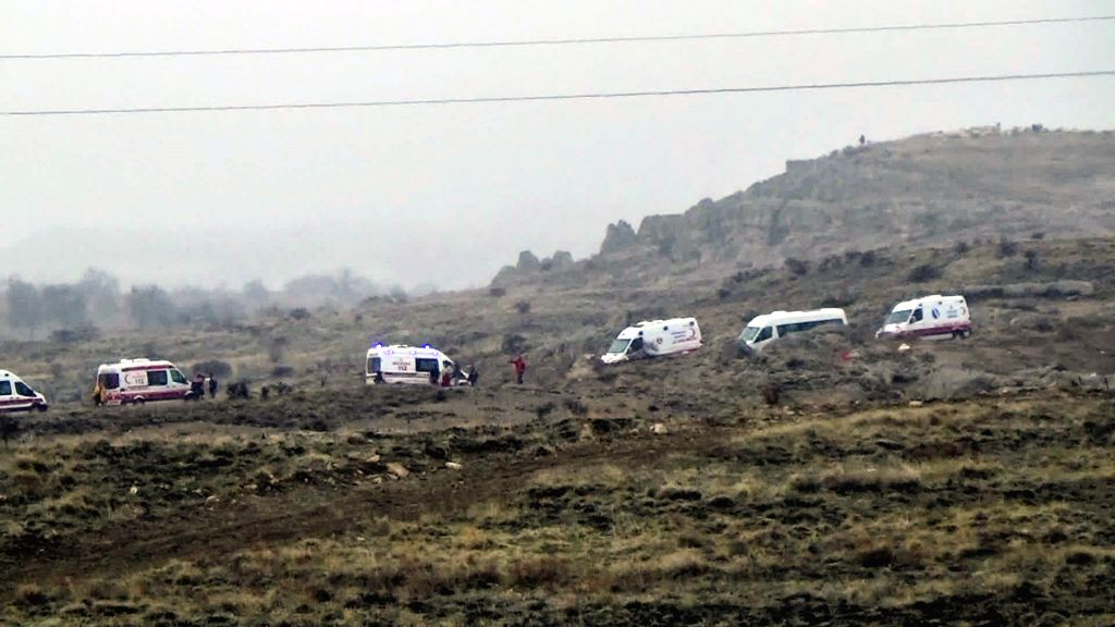 CAPPADOCIA, March 14, 2017 - A number of ambulances and rescue teams were dispatched to the site of the air balloon accident in Cappadocia of central Turkey on March 14, 2017. A total of 49 tourists ...