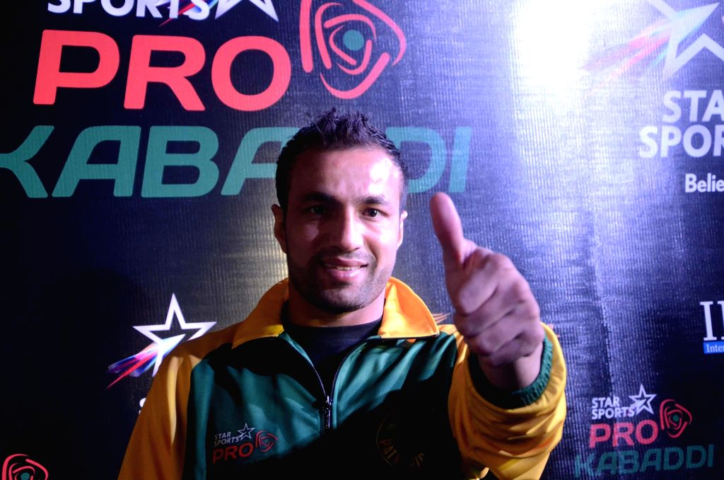 Captain of Patna Pirates - kabaddi team during a press conference in Mumbai on July 25, 2014.