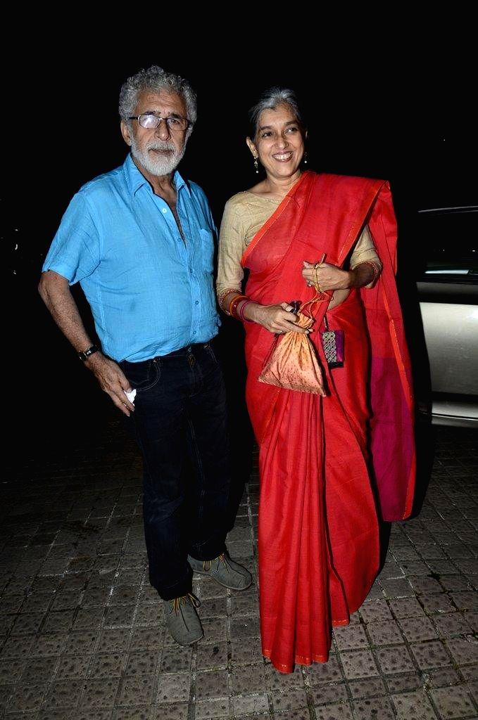 Caption : Actor Sonam Kapoor during the special screening of film Finding Fanny in Mumbai on Sept 7, 2014. - Sonam Kapoor