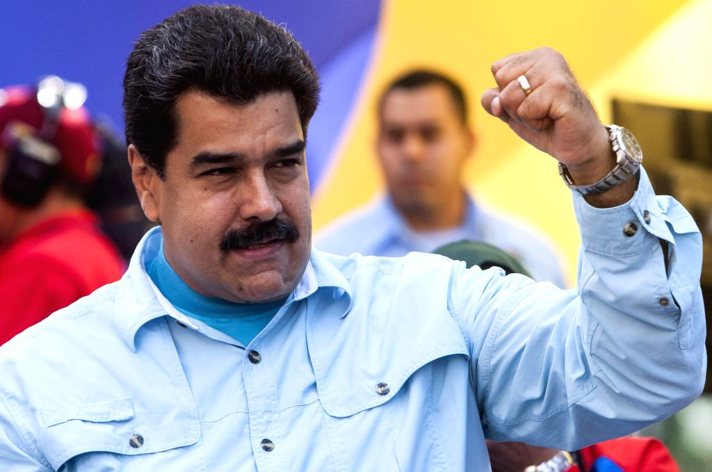 Venezuela's President Nicolas Maduro attends a rally in Caracas March 18, 2015. Nicolas Maduro said on Wednesday that his government would start a world campaign ...