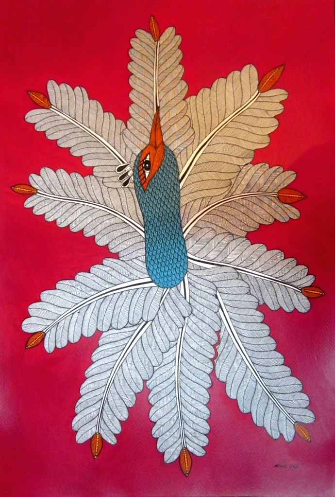 Carrying forward the unique tradition of Gond tribal art, Japani Shyam, daughter of a master artist, is exploring her communitys folklore on canvas. - Japani Shyam