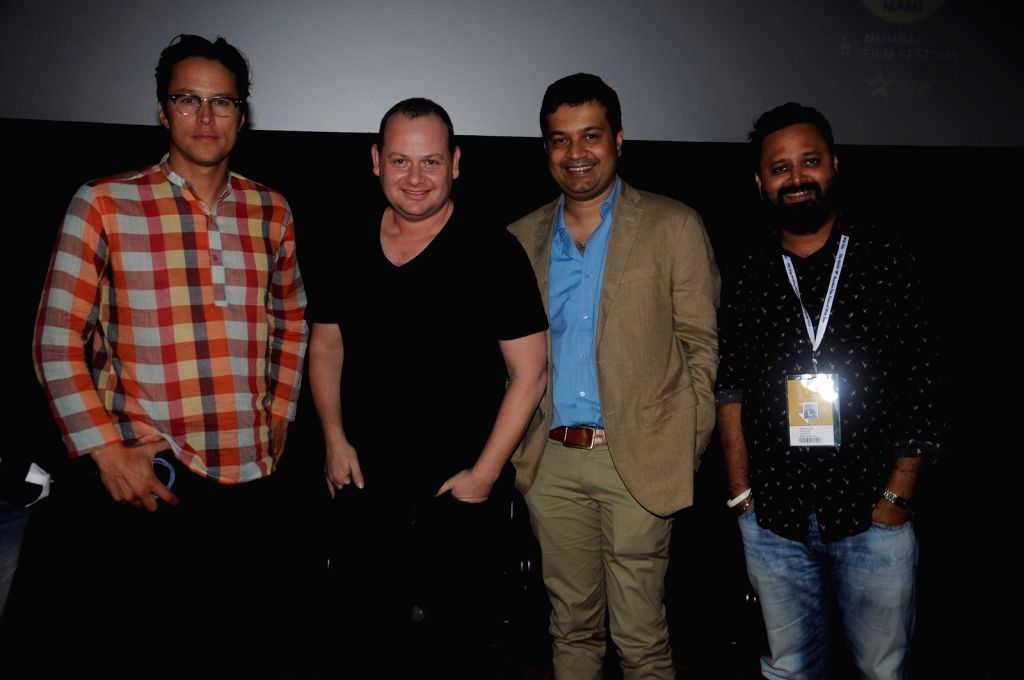 Cary Fukunaga, Gideon Raff, Gaurav Banerjee & Nikkhil Advani arrive to attend the screening of Nikkhil Advani`s TV show `P.O.W. Bandi Yuddh Ke` at the Jio MAMI 18th Mumbai Film Festival, ... - Gaurav Banerjee and Nikkhil Advani