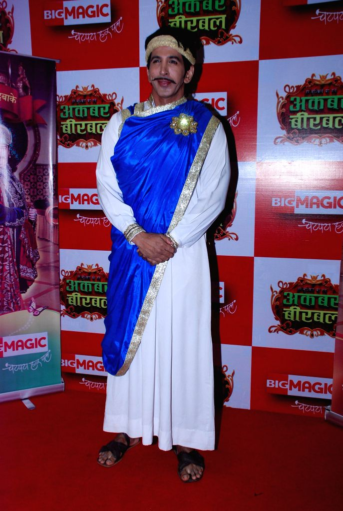 Cast of serial during the promotion of Big Magic`s television show Akbar Birbal in Mumbai, on August 12, 2014.