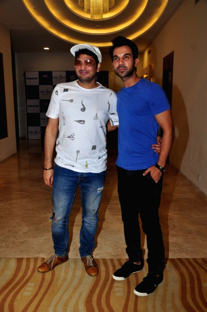 Casting director Mukesh Chabra and actor R Rajkumar during the special screening of the movie Parched in Mumbai on Sept. 19, 2016. - Mukesh Chabra