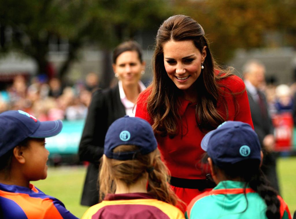 Catherine, Duchess of Cambridge during her visit to Christchurch in South Island of New Zealand on April 14, 2014.