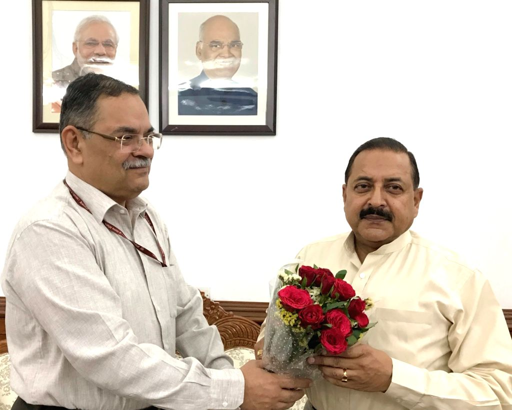 CBI Director Rishi Kumar Shukla calls on Minister of State in the Prime Minister???s Office Jitendra Singh, in New Delhi on June 01, 2019. - Rishi Kumar Shukla and Jitendra Singh