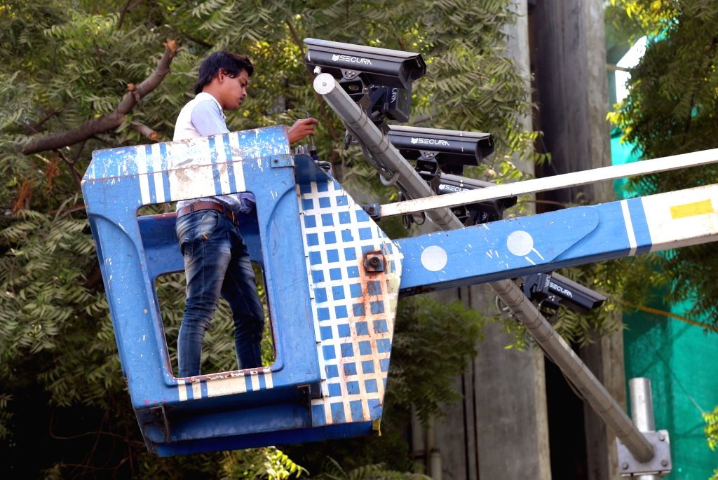 CCTVs being installed to check people from spitting in pubic places in Ahmedabad.