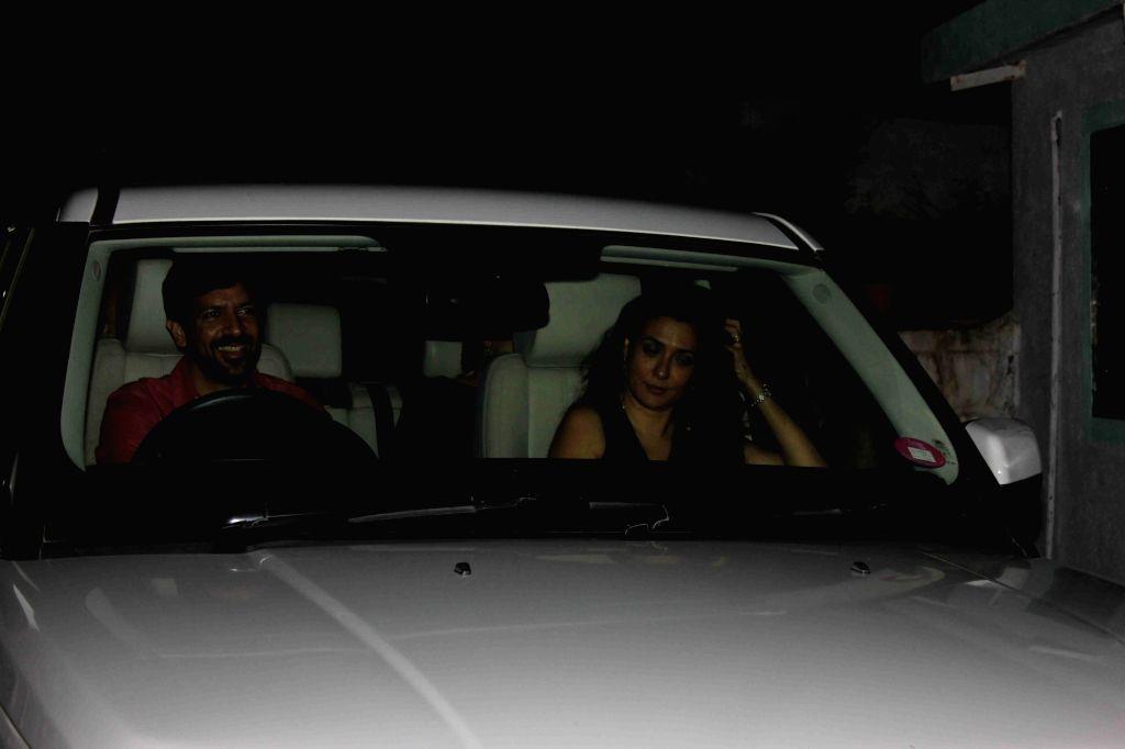 Celeb during the Katrina Kaif birthday party in Mumbai, on July 15, 2016. - Katrina Kaif