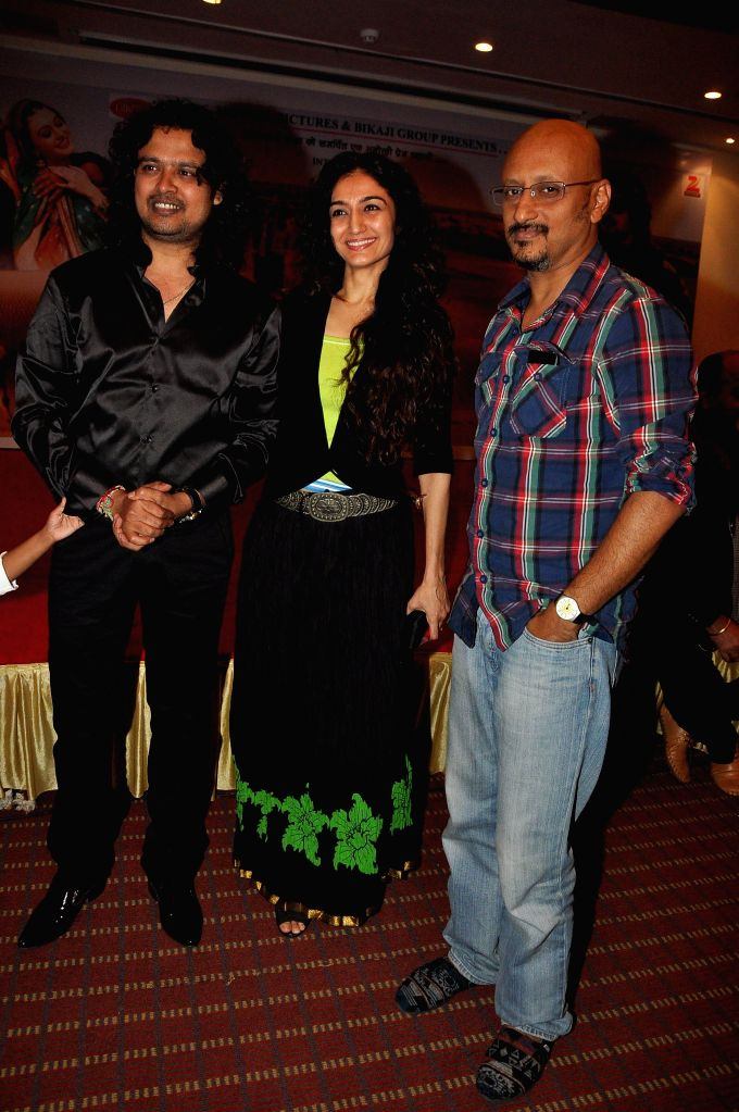 Celeb during the launch of album `Marudhar Mharo Ghar`, in Mumbai, on Aug. 21, 2014.