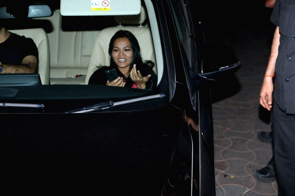 Celeb during the screening of film Dear Zindagi, in Mumbai, on Nov 23, 2016.