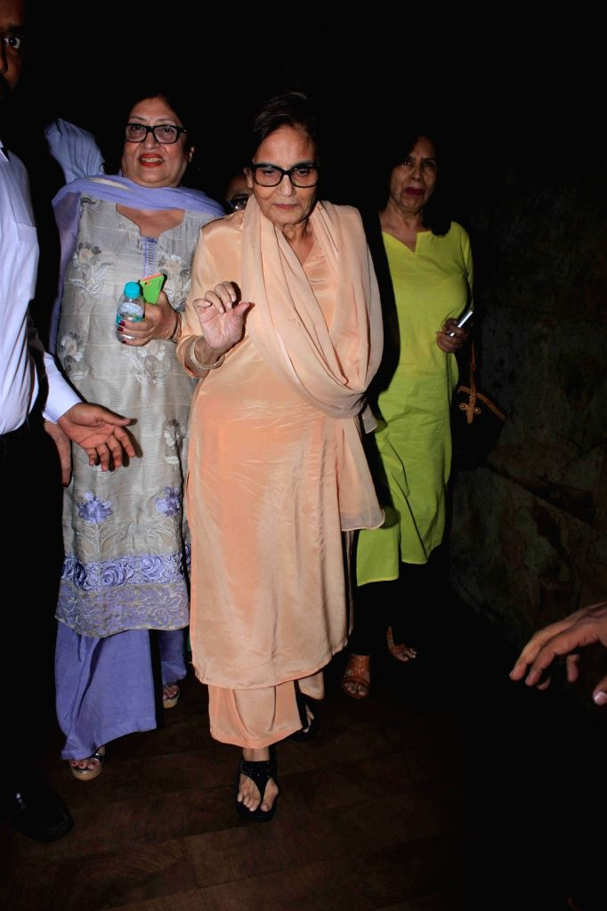 Celeb during the screening of film Sultan in Mumbai, on June 5, 2016.