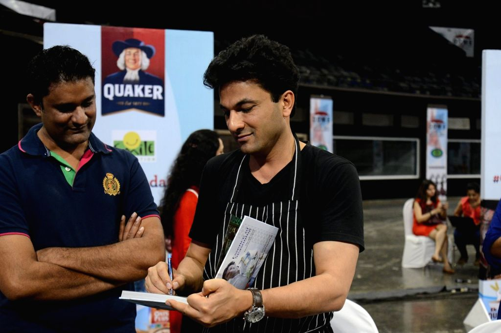 Celebrity Chef Vikas Khanna during the launch of 'Quaker Feed a Child' on the occasion of World Food Day in Mumbai. - Chef Vikas Khanna