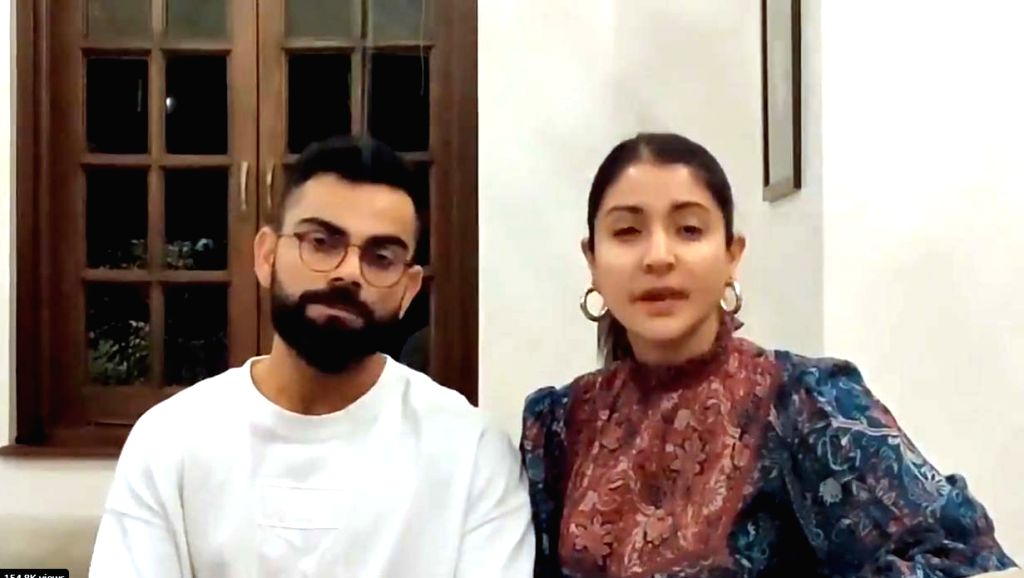 Celebrity couple Anushka Sharma and Virat Kohli on Friday urged people to stay indoors and follow all the guidelines issued by the administration during the ongoing coronavirus outbreak. - Anushka Sharma and Virat Kohli