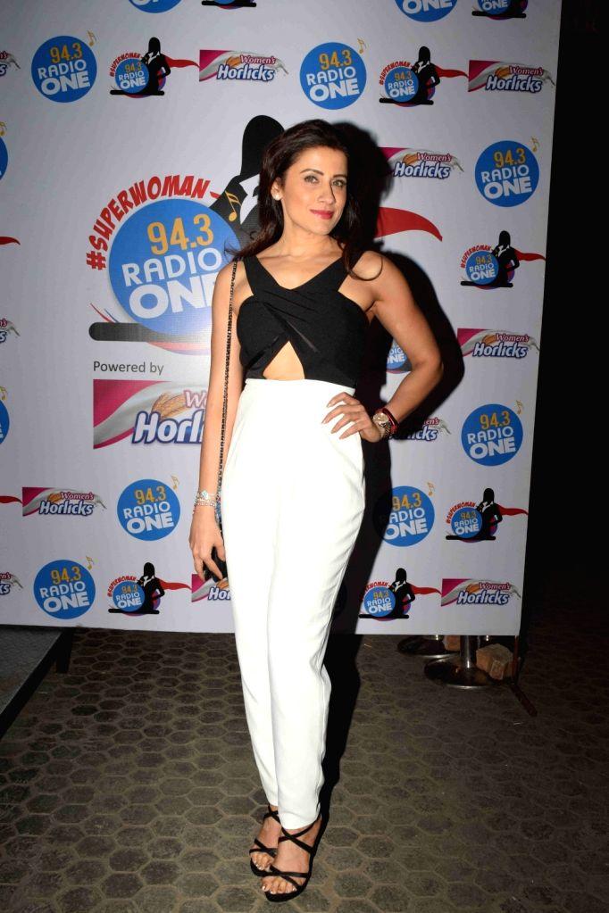 Celebrity fitness trainer Yasmin Karachiwala during Radio One's Superwoman awards in Mumbai on Oct 22, 2015.