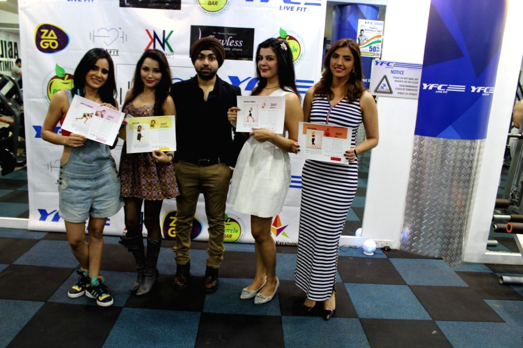 Celebs at Launch Of first fitness calendar of the year I am  fit calender 2017 in Mumbai on Jan 24, 2017.