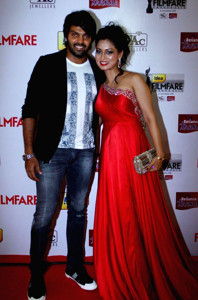Celebs at the `61st Idea Filmfare South Awards 2013` held in Chennai at Nehru Stadium.