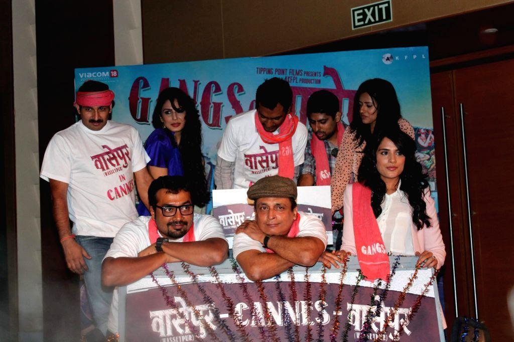 Celebs at the Gangs of Wasseypur press meet.