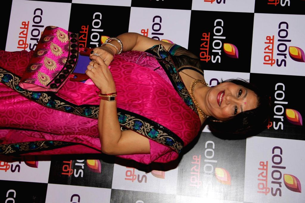 Celebs during the launch of new Marathi entertainment channel, Colors Marathi, in Mumbai on March 20, 2015.