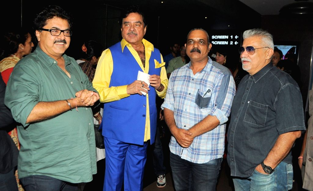 Celebs during the premiere of National award winning Bengali film `Sankachil` in Mumbai on April 17, 2016.