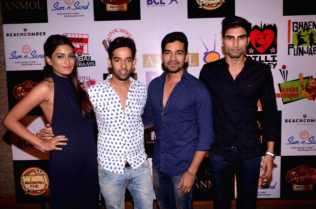 Celebs during the success party Box cricket league (BCL) in Mumbai, in Mumbai on May 8, 2014.
