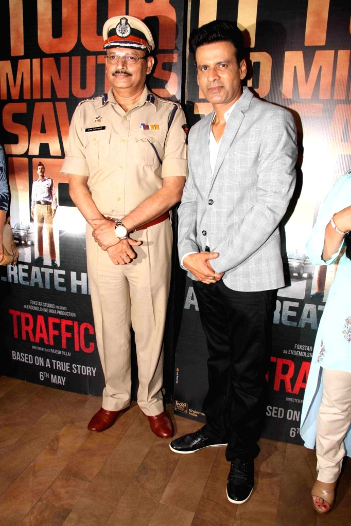 Celebs during the trailer launch of film Traffic in Mumbai, on April 13, 2016.