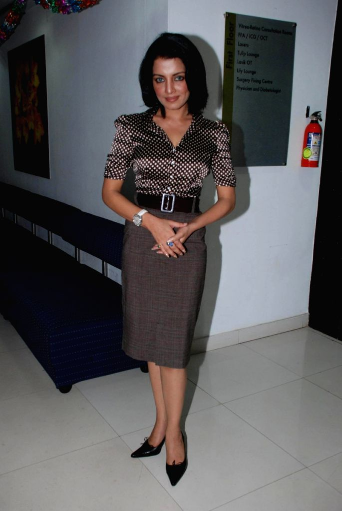 Celina Jaitley at Aditya Jyot Eye Hospital to launch care for the eye program at Wadala, in Mumbai.