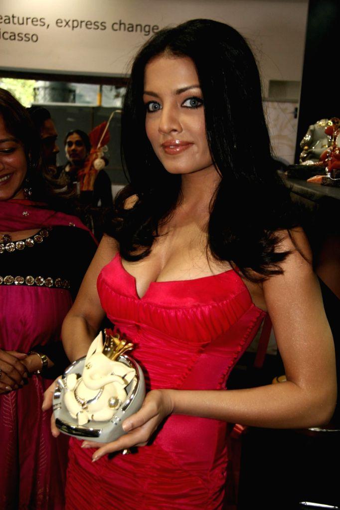 Celina Jaitley at Gitanjali store in Mumbai.