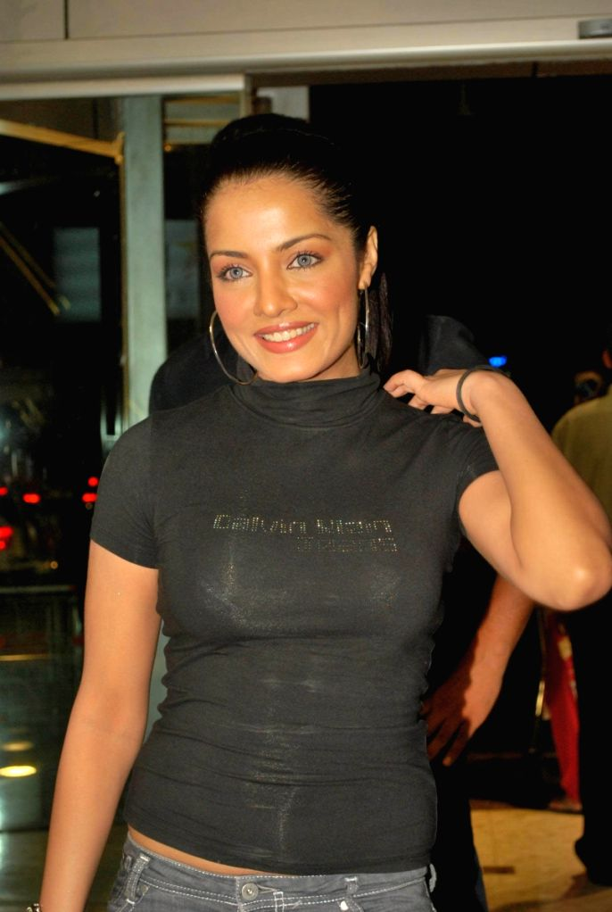 "Celina Jaitly at the launch of Hakim's Aalim ""True Fitness"" Salon in Mumbai."