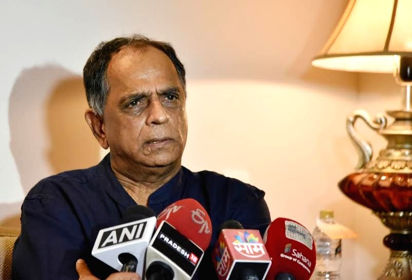 Central Board of Film Certification Chairman and filmmaker Pahlaj Nihalani addresses a press conference in Nagpur on July 3, 2016.