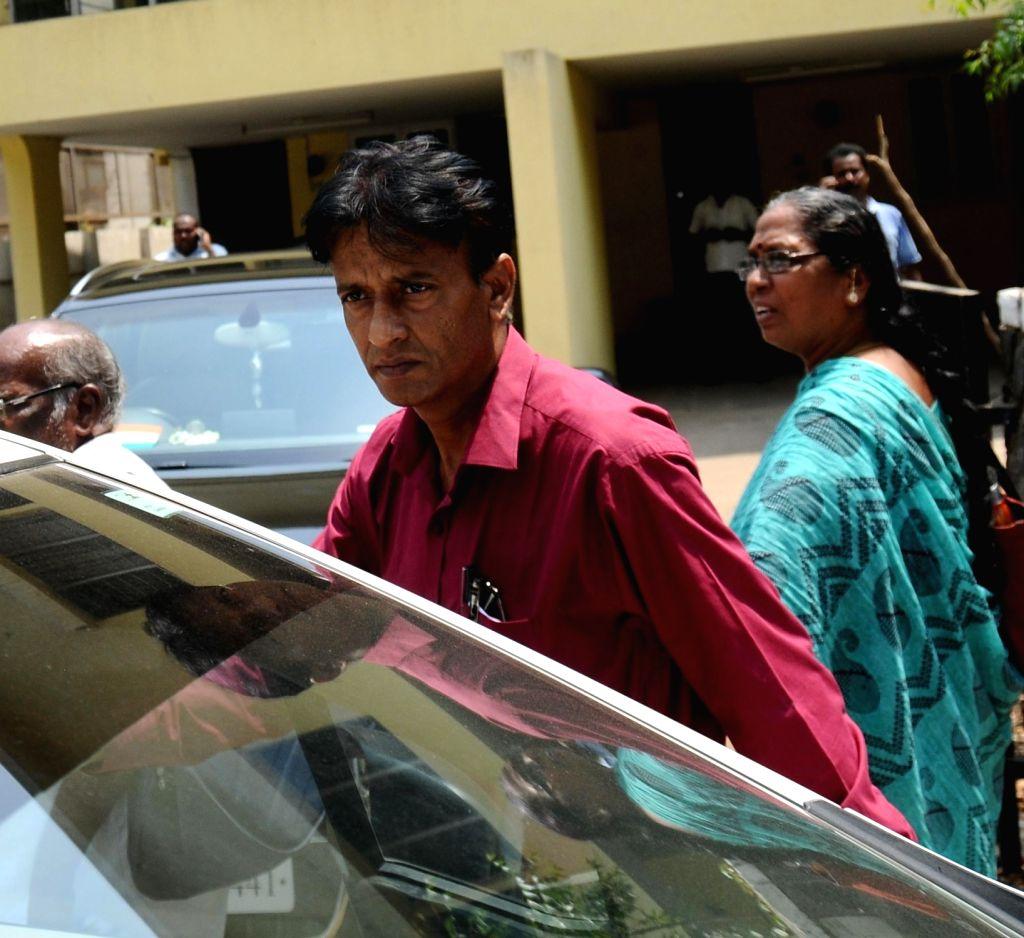 Central Bureau of Investigation (CBI) raids the residence of Karti Chidambaram, son of Congress leader P Chidambaram in Chennai on May 16, 2017. Karti Chidambaram is facing money laundering ...