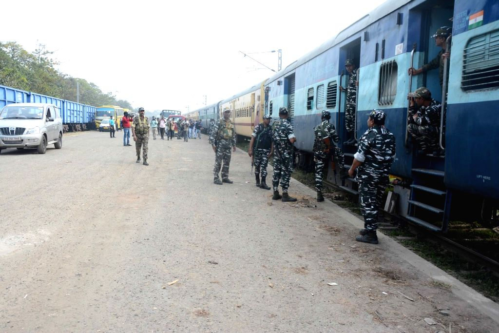 Central Forces arrived at Kolkata Station for the upcoming assembly election on Saturday 20th February 2021.